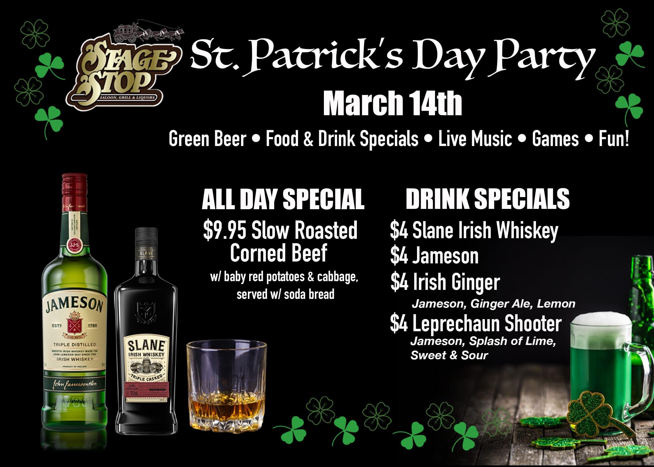 St. Patrick's Day Specials Mandan